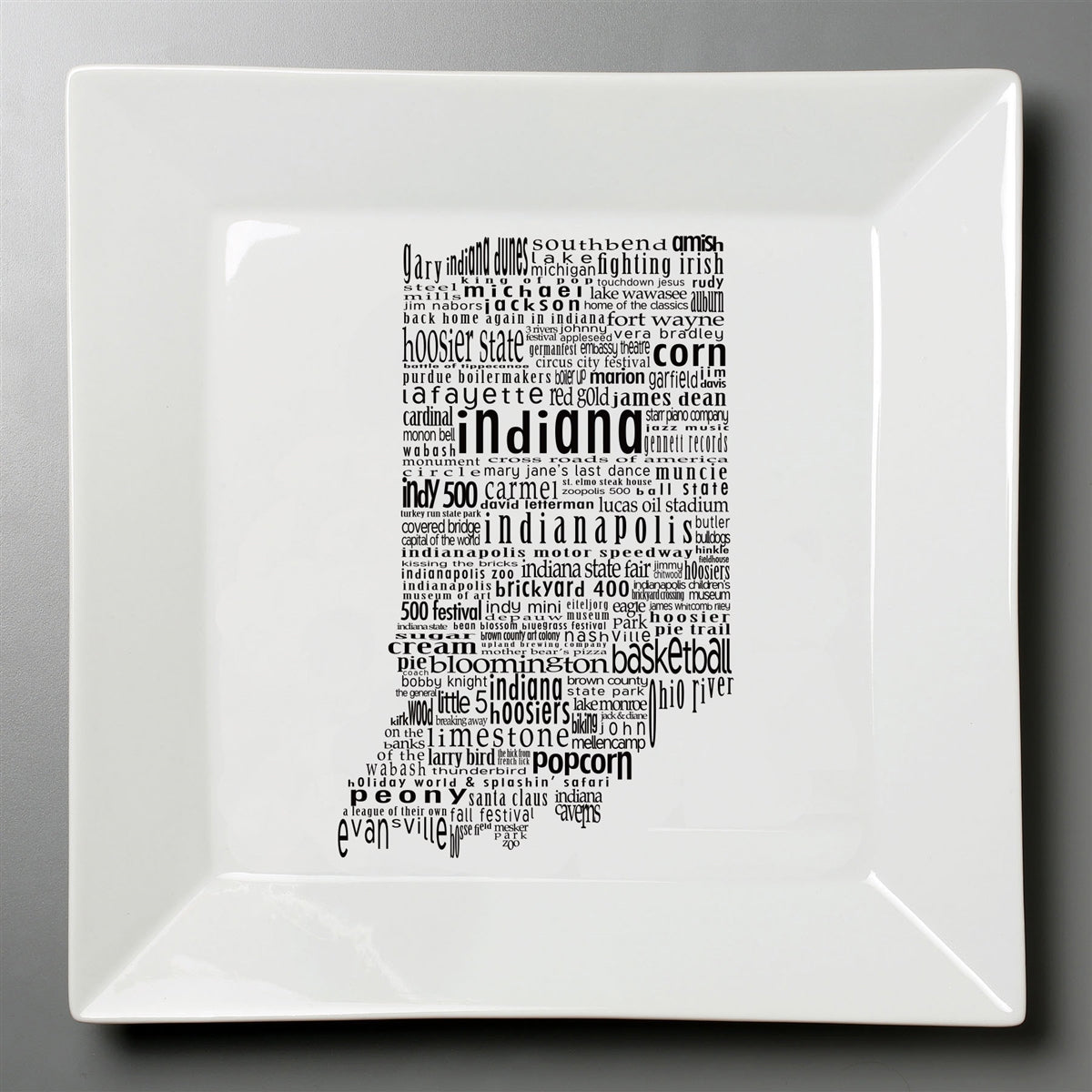 Indiana Dish - Large Square Plate
