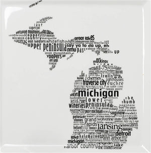 Michigan Dish - Large Square Plate