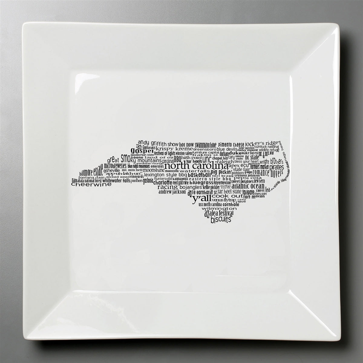 North Carolina Dish - Large Square Plate