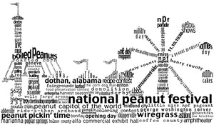 Dothan National Peanut Festival - Large Square Plate