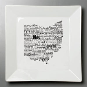 Ohio Dish - Large Square Plate