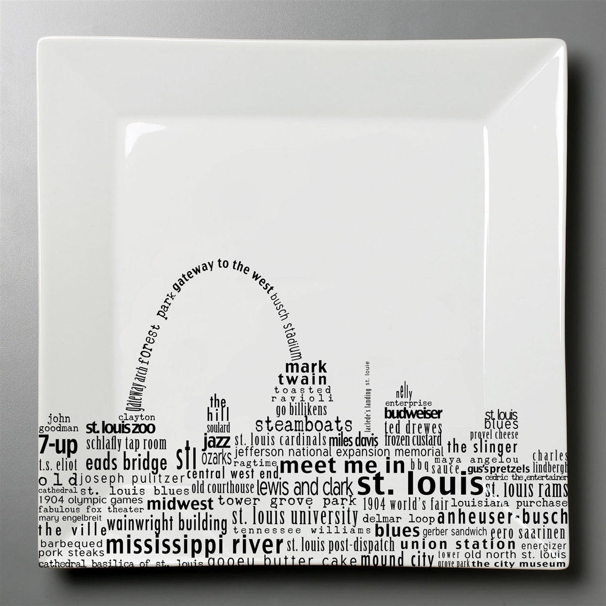 St. Louis Dish - Large Square Plate