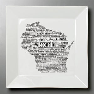 Wisconsin Dish - Large Square Platter