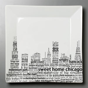 Chicago Dish - Small Square Plate