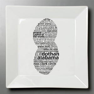 Dothan Peanut - Small Square Plate