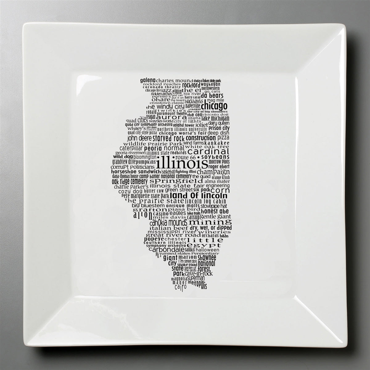 Illinois Dish - Small Square Plate