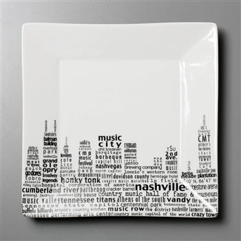 Nashville Dish - Small Square Plate