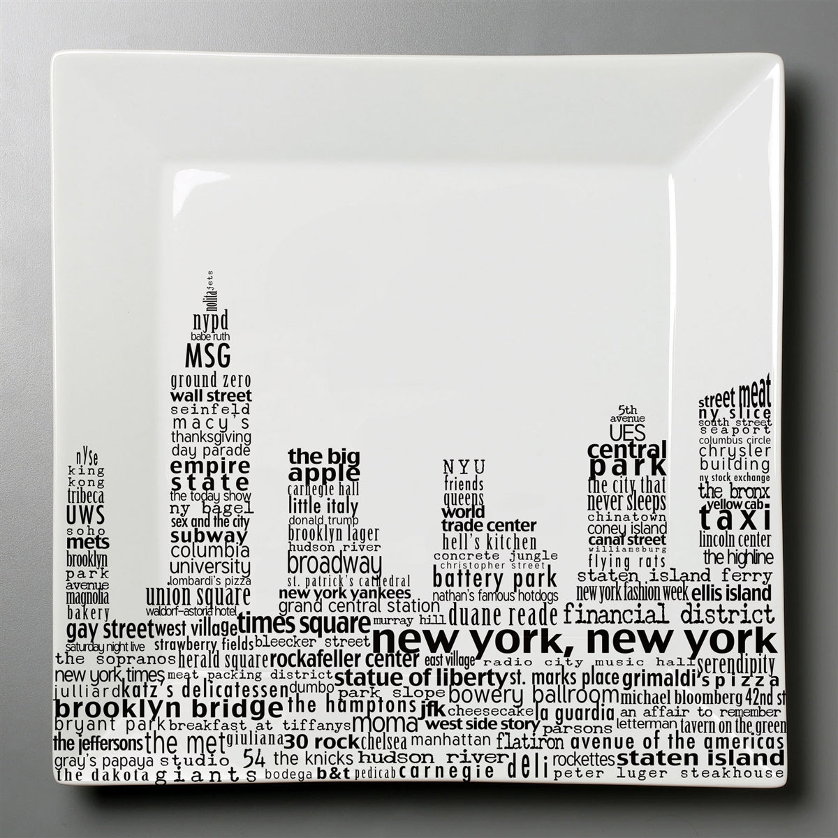 New York Skyline Dish - Small Square Plate