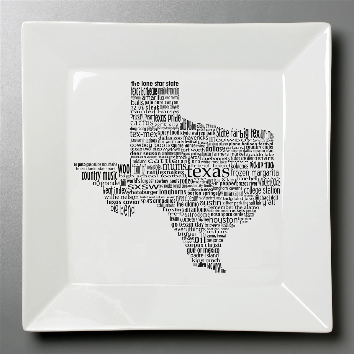 Texas Dish - Small Square Plate