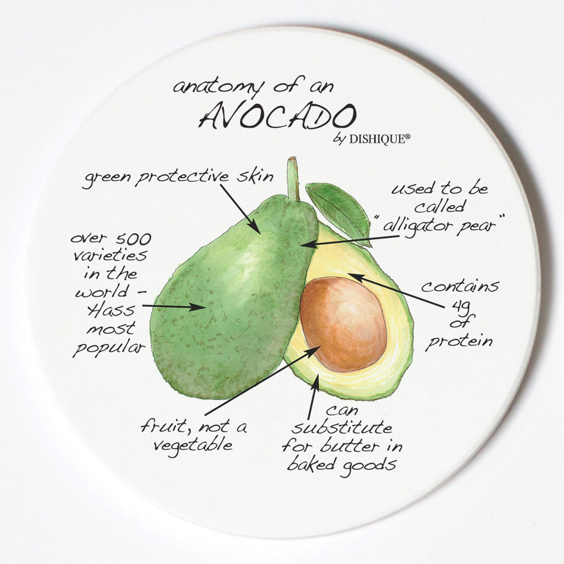 Individual Coasters - Food & Drinks - Avocado