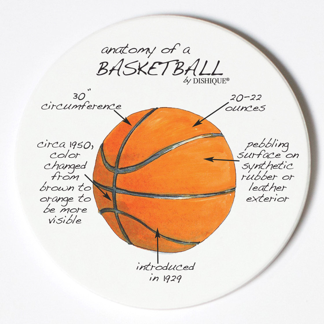 Individual Coasters - Sports & Hobbies - Basketball