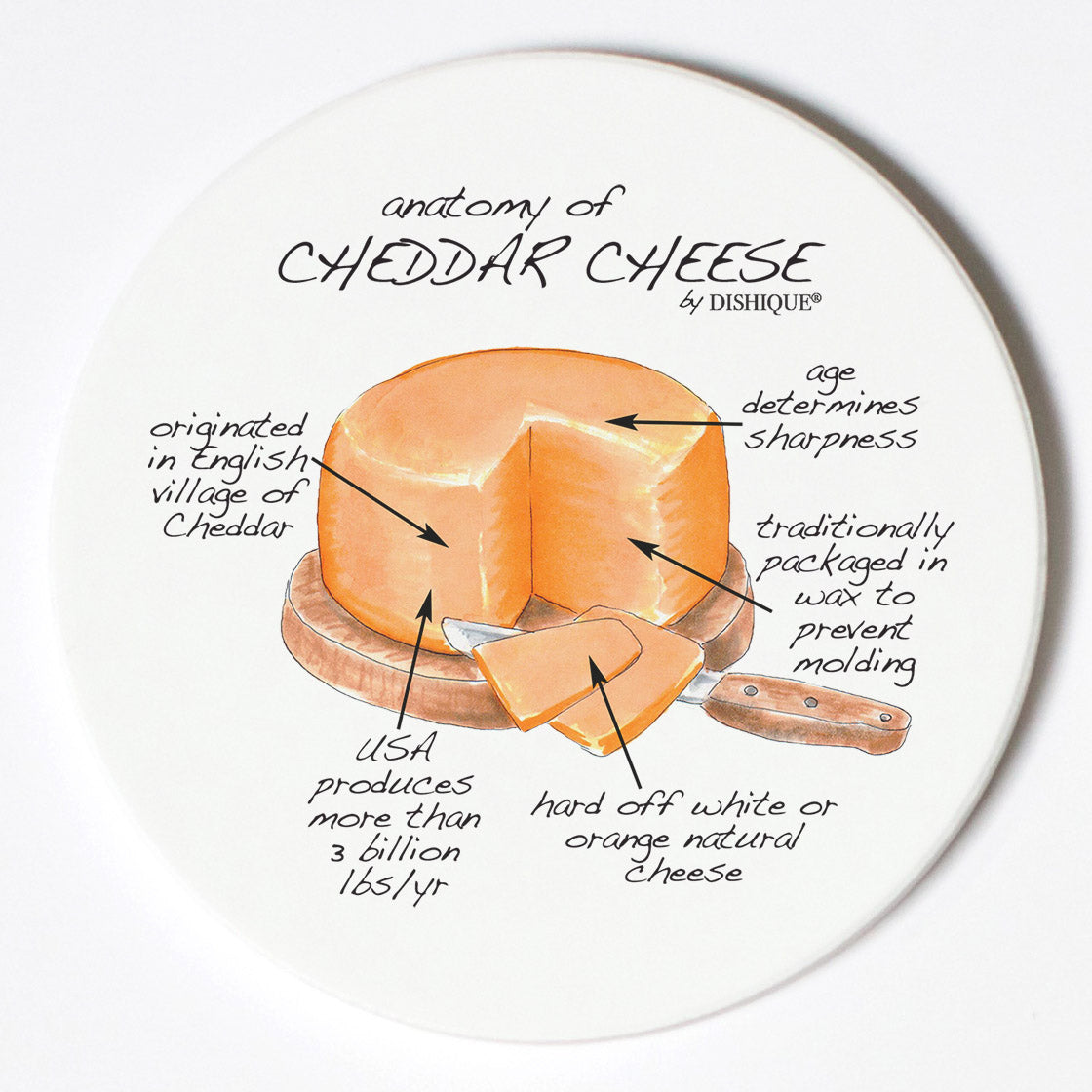 Individual Coasters - Food & Drinks - Cheddar Cheese