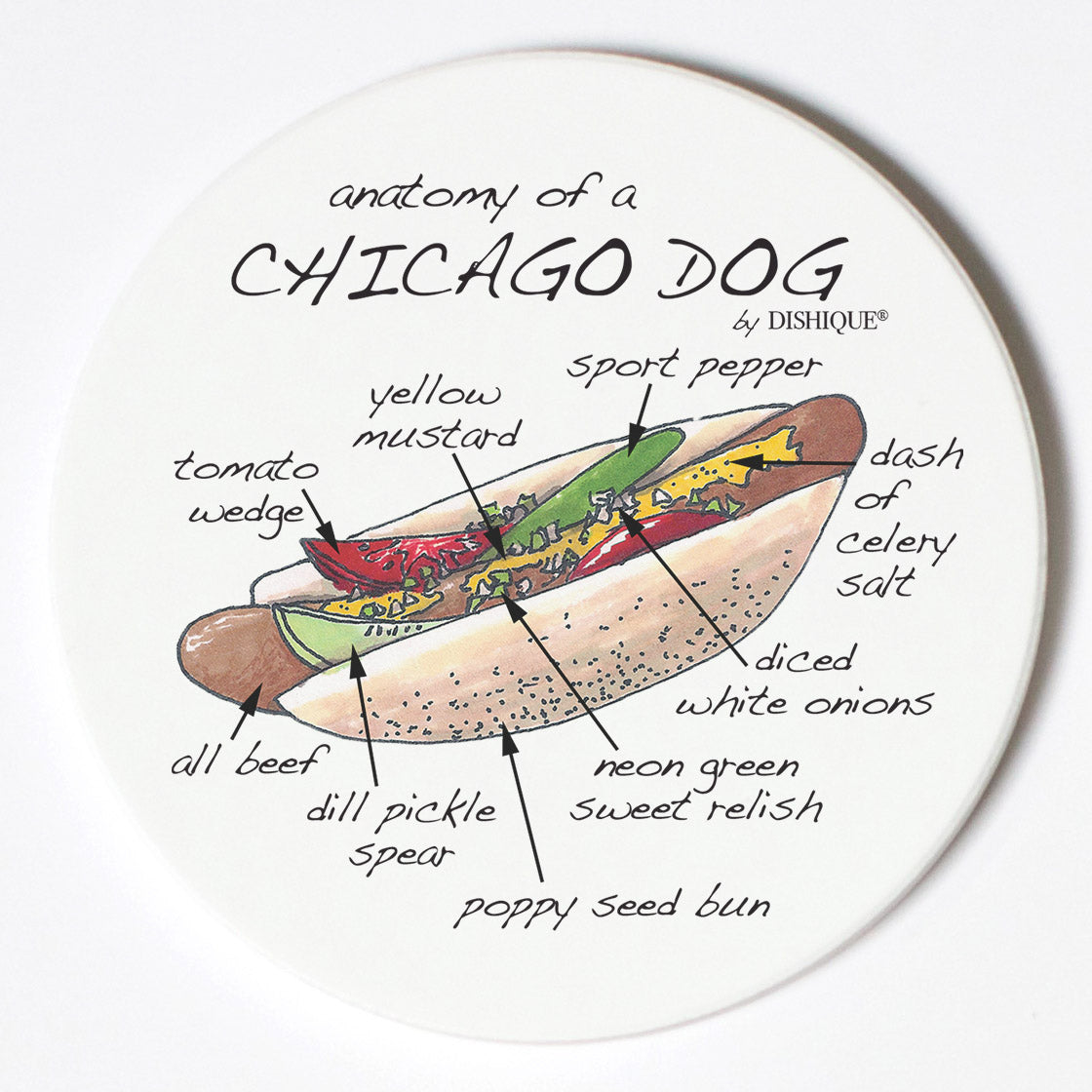Individual Coasters - Food & Drinks - Chicago Dog