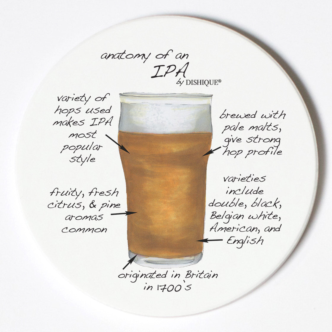 Individual Coasters - Food & Drinks - IPA