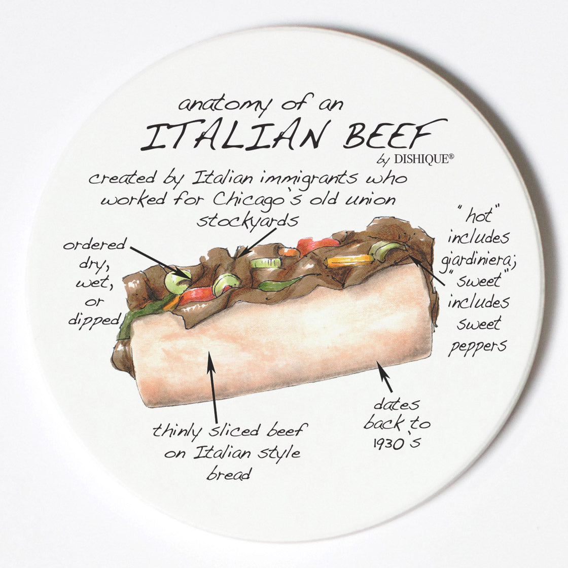 Individual Coasters - Food & Drinks - Italian Beef