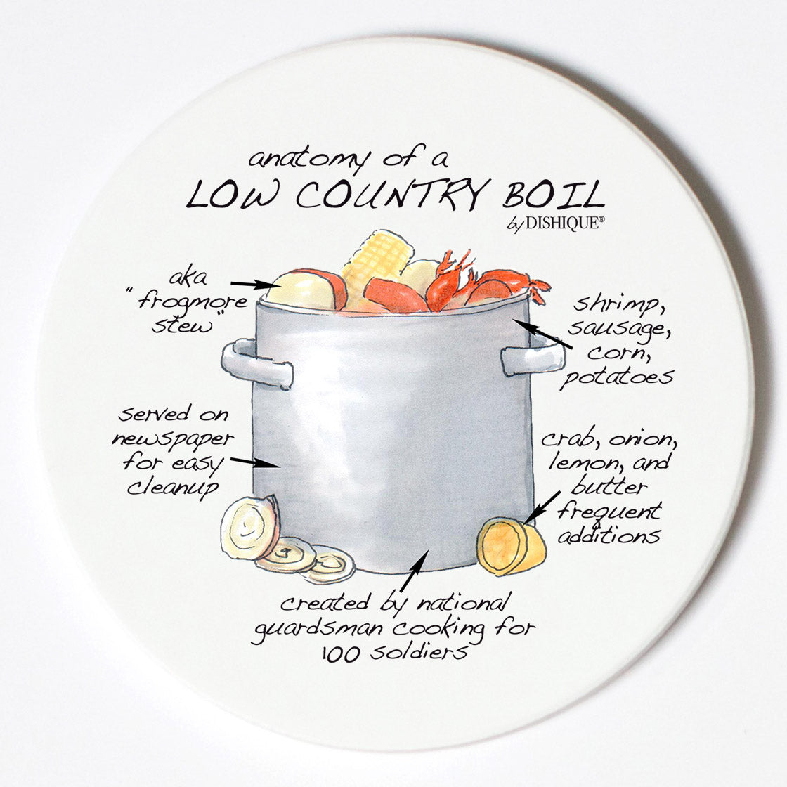 Individual Coasters - Food & Drinks - Low Country Boil