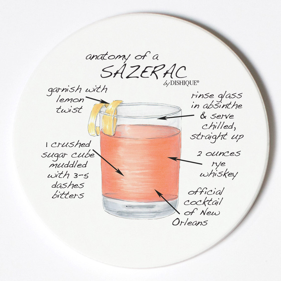 Individual Coasters - Food & Drinks - Sazerac