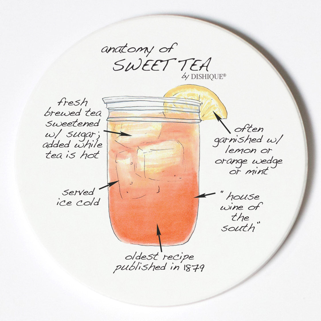 Individual Coasters - Food & Drinks - Sweet Tea