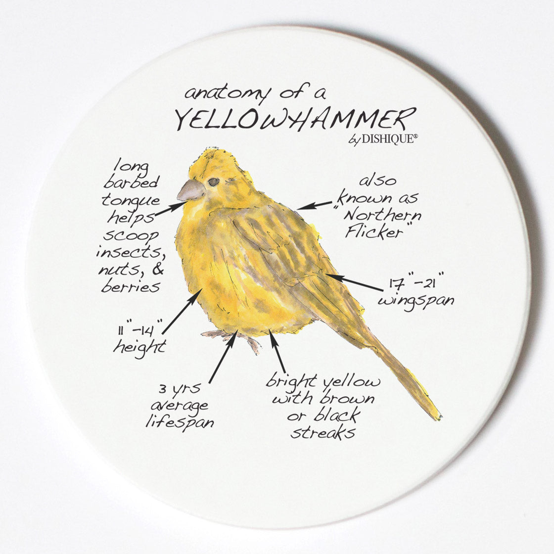 Individual Coasters - Animals & Insects - Yellowhammer