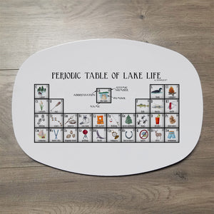"Lake Life Periodic Table 14"" ThermoSaf Polymer Platter"