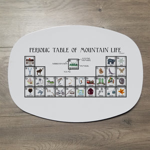 "Mountain Life Periodic Table 14"" ThermoSaf Polymer Platter"