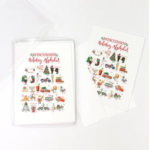 Wisconsin Holiday Alphabet Greeting Cards, Pack of 10 cards (blank inside)