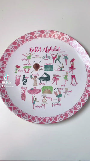 "Ballet Alphabet 10"" Thermosaf Plastic Plate"