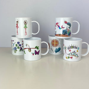Botanical Parts of a Flower 11 oz. Plastic Mug