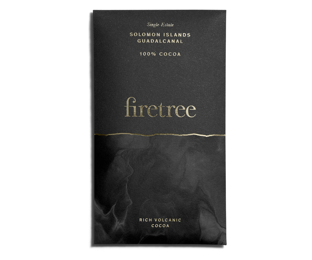 Firetree Chocolate Bar - 100% Cocoa (Solomon Islands, Guadalcanal)
