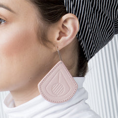 Strum Pink Leather Earrings