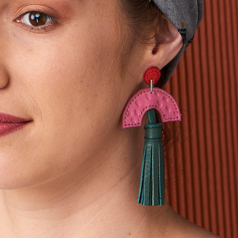 Archway Leather Earrings : various colours