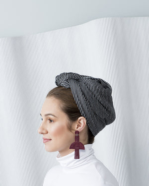 Chrysler Bordo Leather Earrings