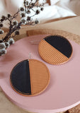 Eclipse Leather Earrings : various colours