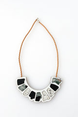 Pebble Necklace - white