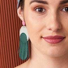 Pillar Leather Earrings : various colours