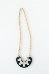 Share My Donut Necklace - Black Caviar