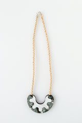 Share My Donut Necklace - green slate