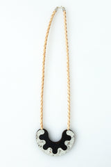 Share My Donut Necklace - grey stone