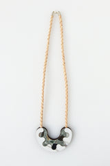 Share My Donut Necklace - white marble