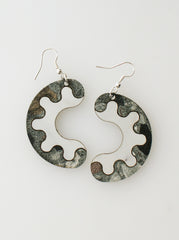 Share My Donut Earrings - green slate