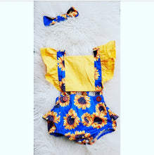 Load image into Gallery viewer, Summer Bloom romper & ribbon set