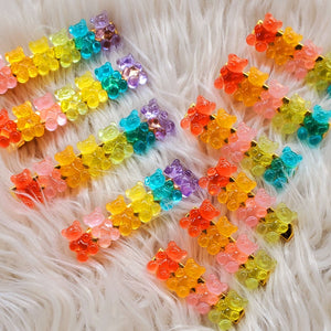 Gummie Hair Clip Set large ( 2 clips in a set)