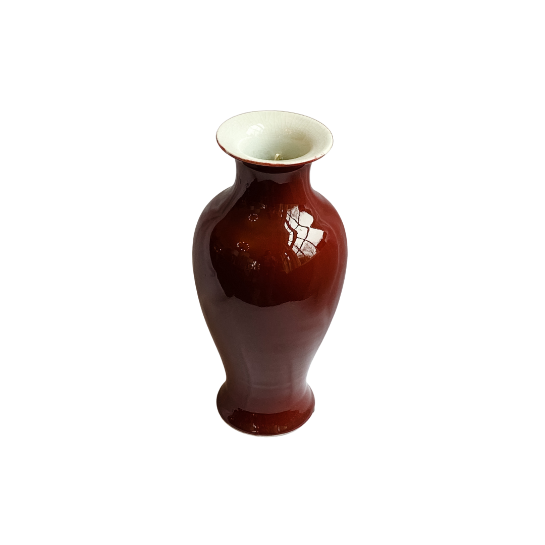 Classical Asian Oxblood Vase in size Medium