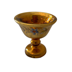 Gold Mercury Glass Compote