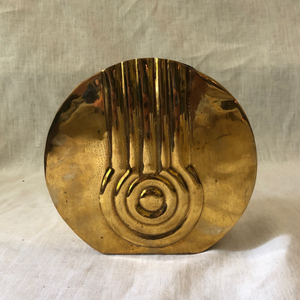 Art Deco Motif Brass Vase