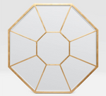 Load image into Gallery viewer, Gold Leafed Octagonal Mirror