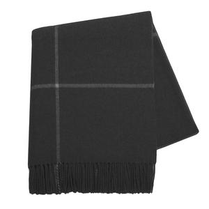 Onyx Windowpane Wool and Cashmere Throw
