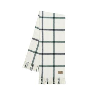 Pine and Graphite Tattersall Plaid Throw