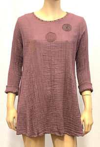 Cotton Crinkled Tunic