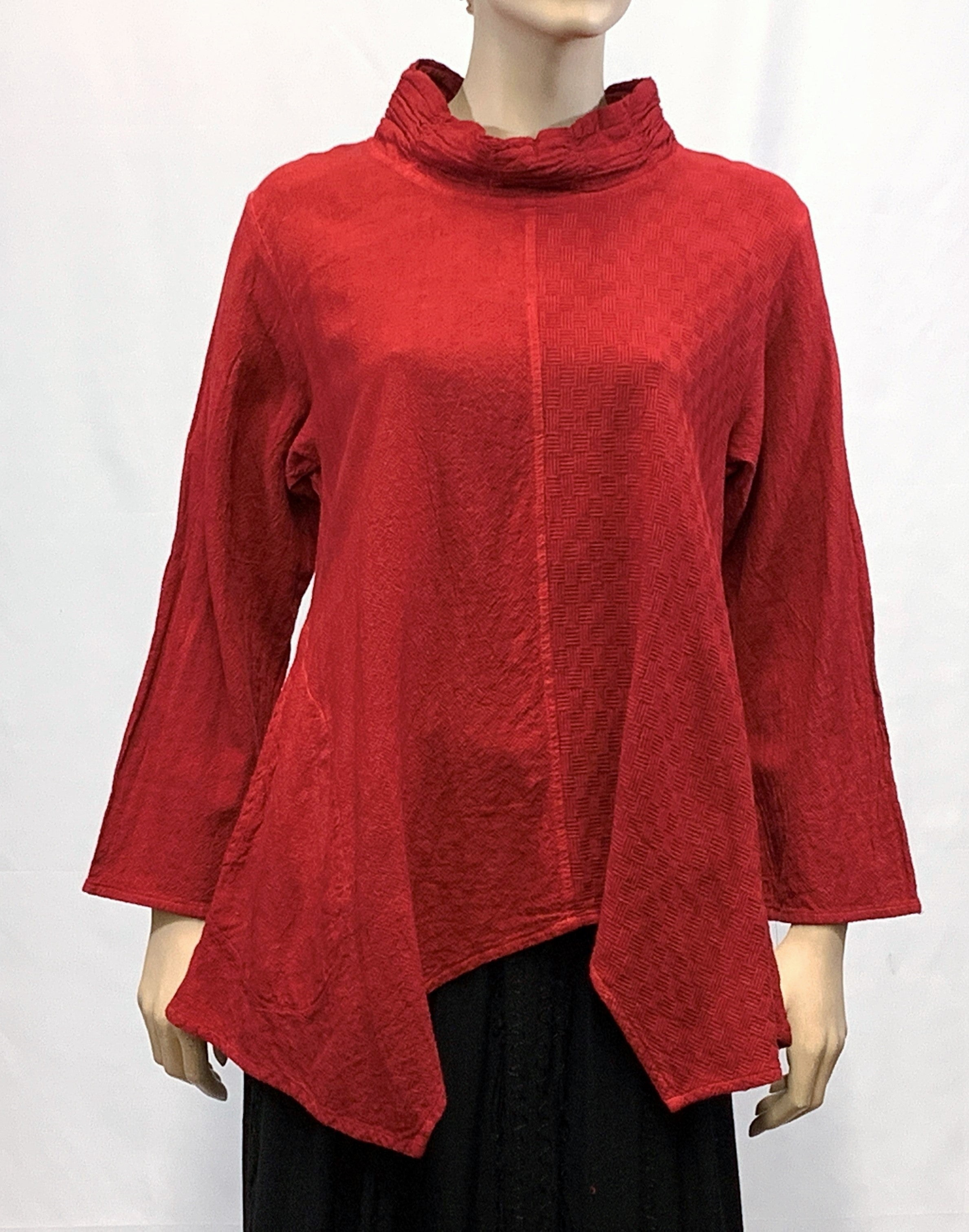 Cotton Casual Mock-Neck